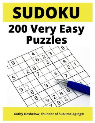Book Cover: 200 Very Easy SUDOKU Puzzles - with Solutions