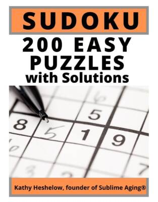 Book Cover: 200 Easy SUDOKU Puzzles - with Solutions