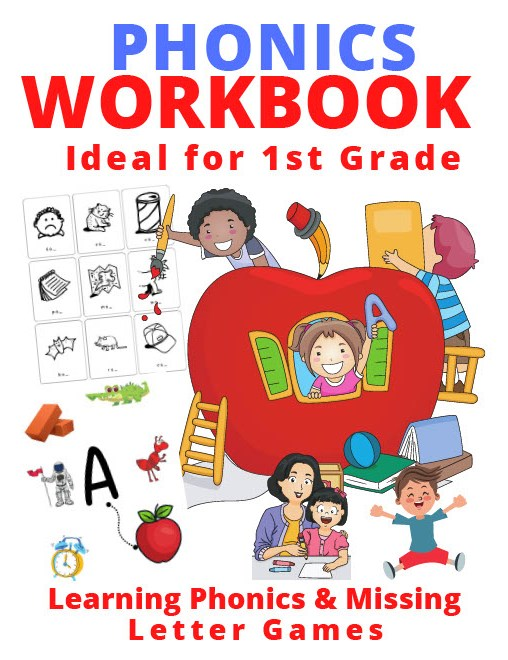 Book Cover: Phonics Workbook Ideal for First Grade