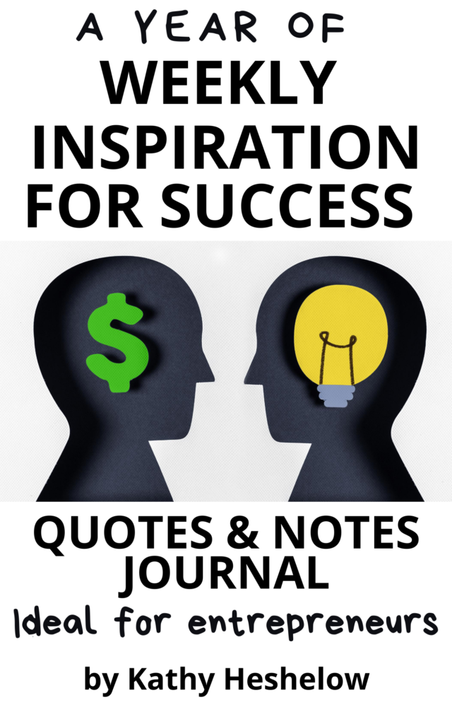 Book Cover: A Year of Weekly Inspiration for Success: Quotes & Notes Ideal for Entrepreneurs