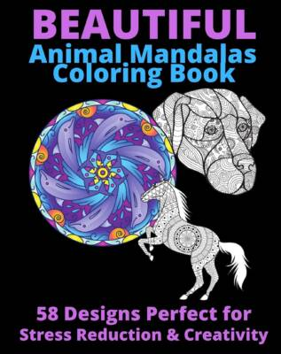 Book Cover: Beautiful Animal Mandala Coloring Book