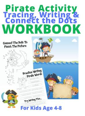 Book Cover: Pirate Activity; Tracing, Writing & Connect the Dots Workbook